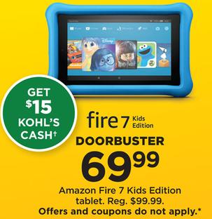 Kohl's Black Friday: Amazon Fire 7 Kids Edition + $15 Kohl's