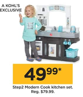 Kohl S Black Friday Step2 Modern Cook Kitchen Set For 49 99
