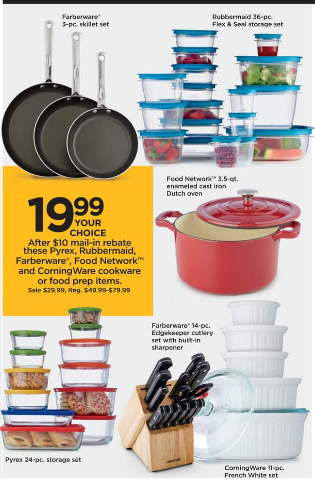 Kohl S Black Friday Corningware 11 Pc French White Set For 19 99 After 10 00 Rebate See Deal