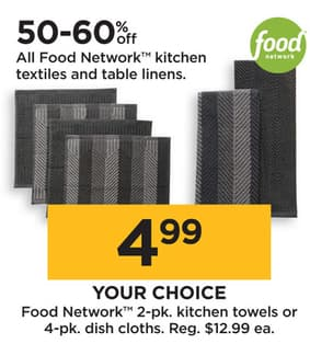 Kohl S Black Friday Food Network 2 Pk Kitchen Towels Or 4