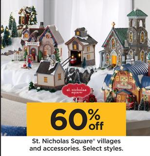 St Nicholas Christmas Village.Kohl S Black Friday St Nicholas Square Villages And Accessories
