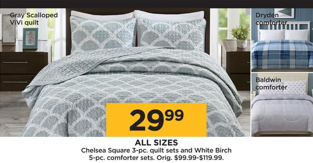 Kohl's Black Friday: Chelsea Square 3 pc Quilt Sets or White Birch
