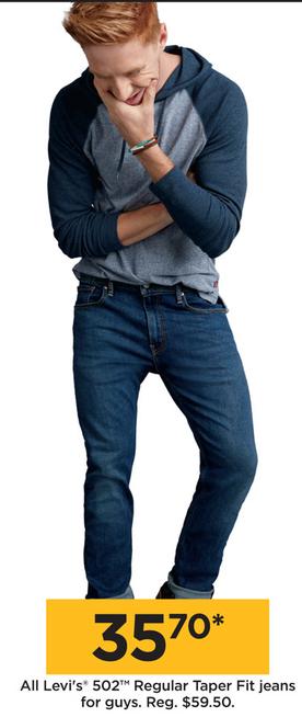 72b849944f Kohl's Black Friday: Levi's Guys' 502 Regular Taper Fit Jeans for ...