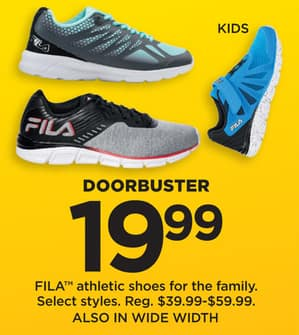 963f6aac Kohl's Black Friday: FILA Women's, Men's, and Kids' Shoes, Select ...
