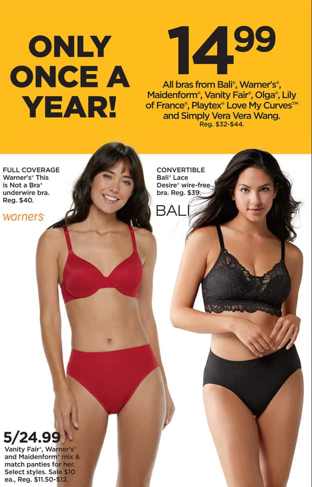 0663f78f186c Kohl's Black Friday: (5) Vanity Fair, Warner's, and Maidenform Women's  Panties, Mix & Match Select Styles for $24.99