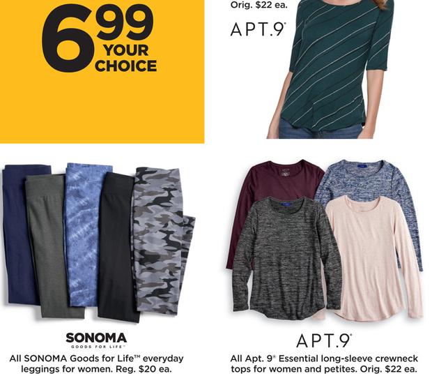 a8d7cf73a9 Kohl s Black Friday  Sonoma Goods for Life Women s Everyday Leggings for   6.99