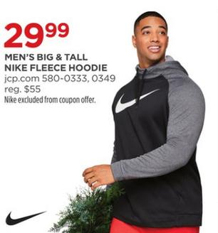 f7676637ca Nike Men s Big   Tall Fleece Hoodie for  29.99 - Slickdeals.net