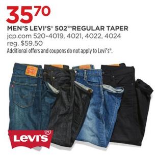 f4c2ef2e7d953 JCPenney Black Friday  Levi s Men s 502 Regular Taper Jeans for ...