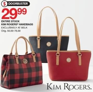 Belk Black Friday Entire Stock Kim Rogers Handbags For 29 99