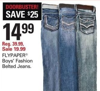 92202c41a135 Shopko Black Friday  Flypaper Boys  Fashion Belted Jeans for  14.99 ...