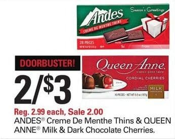 andes chocolate coupons