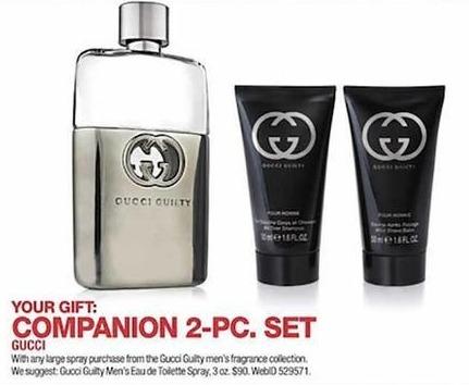 6e231cba4fc Macy s Black Friday  Gucci Guilty 3 oz Men s Eau de Toilette Spray + Free  Companion 2-pc Set for  90.00