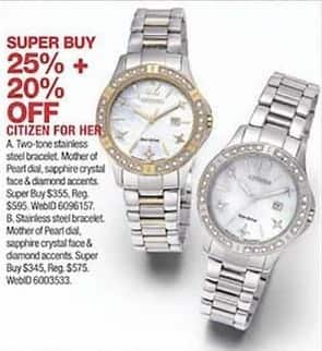 Macy S Black Friday Citizen Women S Watches 25 Off