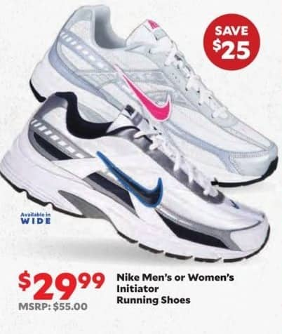 89de5972eed Academy Sports + Outdoors Black Friday  Nike Men s or Women s Initiator  Running Shoes for  29.99