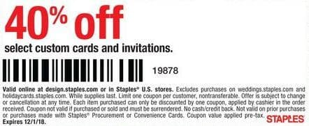 staples black friday select custom cards and invitations 40 off
