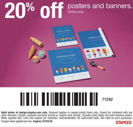 Popular Staples Print & Marketing Services Coupon Codes & Deals