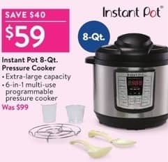 Walmart Black Friday Instant Pot 8 Qt Pressure Cooker For 5900