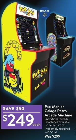 Walmart Black Friday: Pac-Man or Galaga Retro Arcade Machine for
