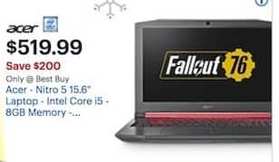 Best Buy Black Friday: Acer Nitro 5 AN515-53-52FA 15 6