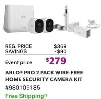 Sam's Club Black Friday: Arlo Pro 2 Pack Wire-Free Home