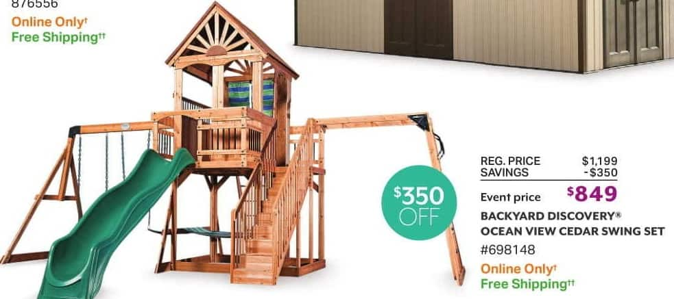 Sam S Club Black Friday Backyard Discovery Ocean View Cedar Swing