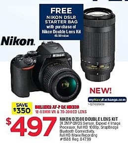 Navy Exchange Black Friday  Nikon D3500 Double Lens Kit w  18-55MM ... e3682d4aedc