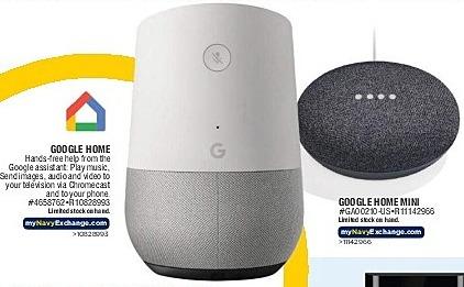 Navy Exchange Black Friday: Google Home and Google Home Mini