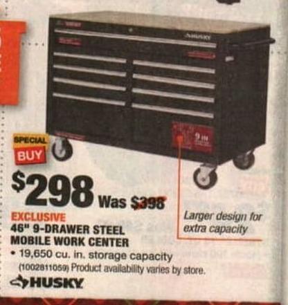 Home Depot Black Friday: Husky 46