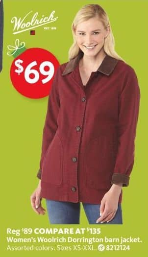 a52649b1238 AAFES Black Friday: Woolrich Women's Dorrington Barn Jacket for ...