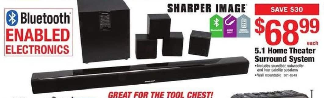 Menards Black Friday Sharper Image 51 Home Theater Surround System