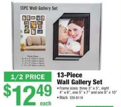 Menards Black Friday 13 Pc Wall Gallery Frame Set For 1249