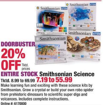 f3cd4e2a633 Boscov's Black Friday: Entire Stock Smithsonian Science Kits - 20% Off