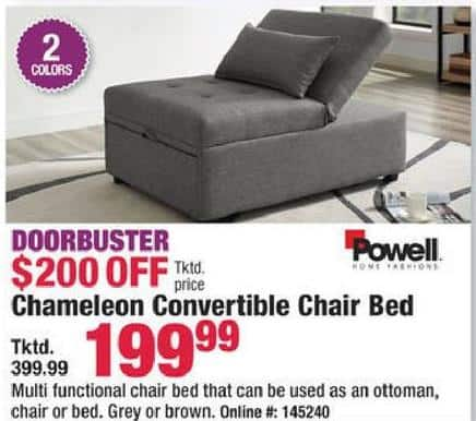 Boscov S Black Friday Powell Chameleon Convertible Chair Bed For
