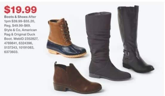 Macy's Black Friday: American Rag and Original Duck Women's Boots and Shoes, Select Styles for $19.99