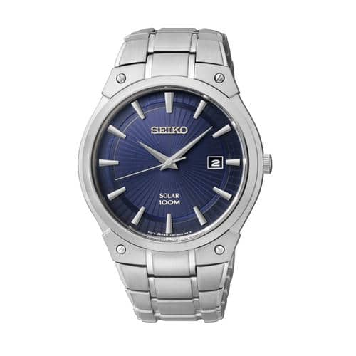 Seiko Men's Core Silver Tone Blue Dial Solar Dress Watch $117.50 + $21.17 in points