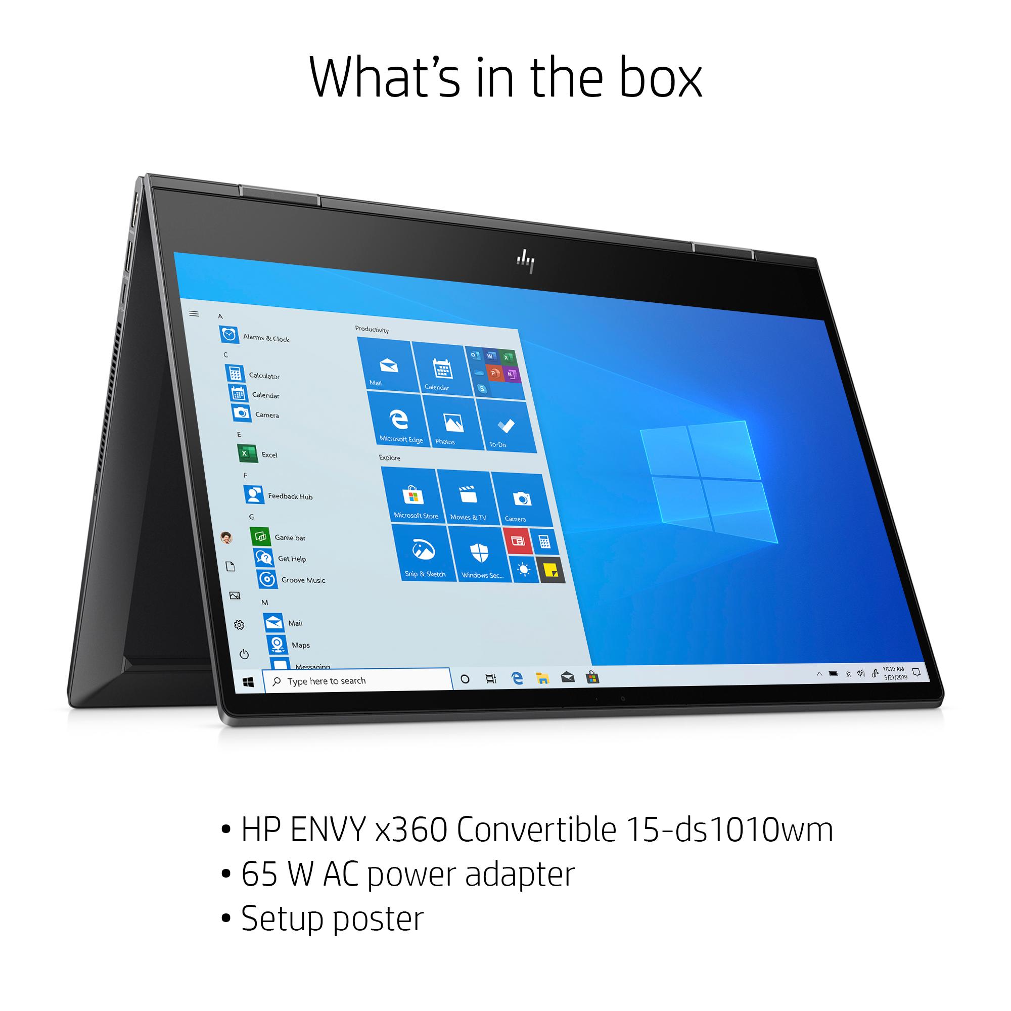 "Walmart. HP Envy 15.6"" Full HD X360, AMD Ryzen 5 4500U, AMD Radeon Graphics, 8GB SDRAM, 256GB SSD, W10 $599"