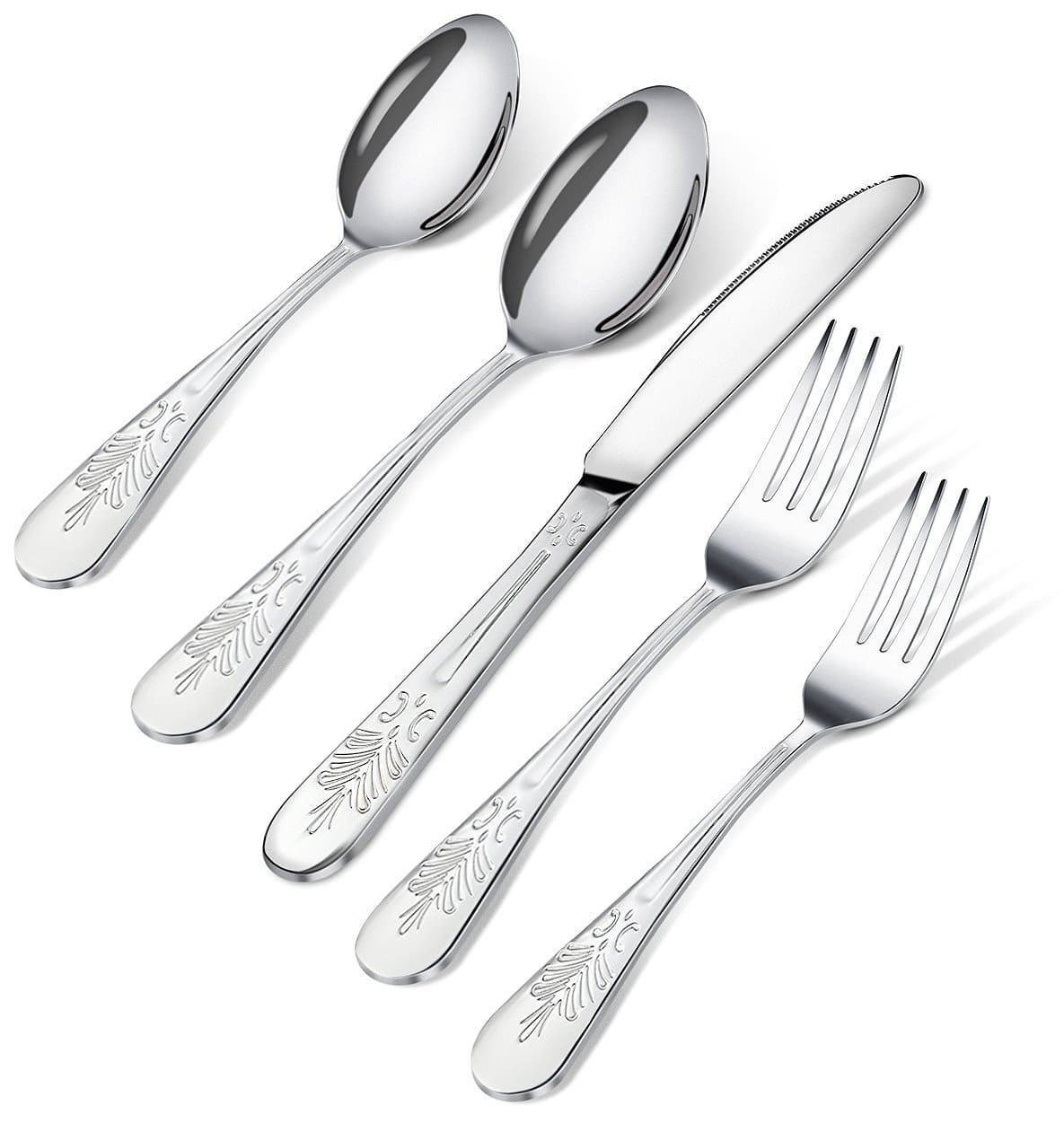 20 Piece Stainless Steel Flatware Set - $13.99 Free shipping @ Amazon