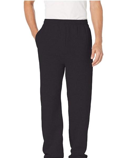 Hanes Men's EcoSmart Open Leg Fleece Pant with Pockets $8.99