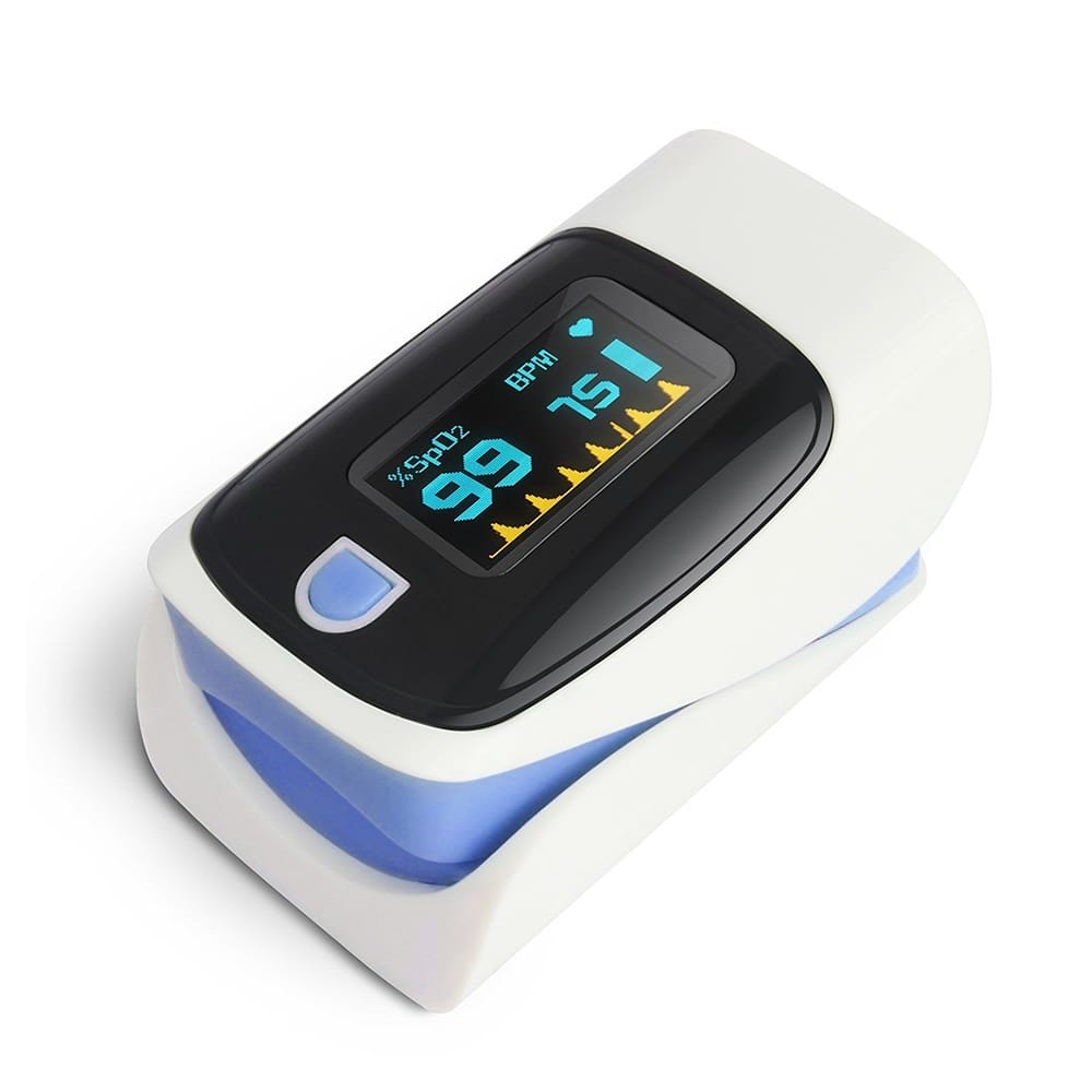 OLED Pulse Finger Pulse Blood Oxygen Saturation Monitor Fitness Health with Digital Display $19.99