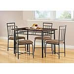 Mainstays 5-Piece Wood and Metal Dining Set $109 Shipped