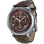 Baume & Mercier Capeland Worldtimer Silver Dial Blue Leather Mens Watch $1799 & more Baume deals