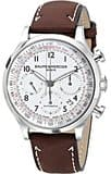 Baume & Mercier Capeland White Dial Automatic Chronograph Mens Watch 10082 for $1,195 on Jomashop