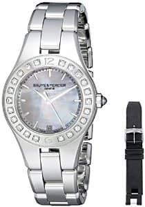 Baume & Mercier Linea Diamond Ladies Stainless Steel Watch 10072 for $799 shipped - 84% off!