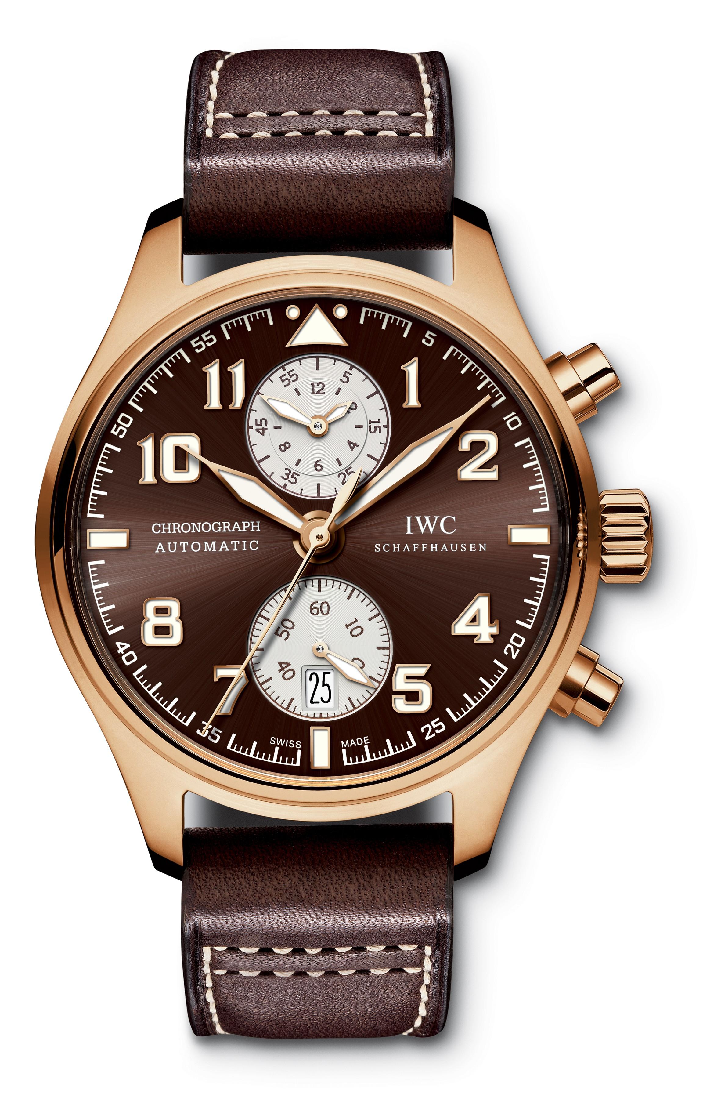 IWC Pilots Chronograph Edition Antoine de Saint Exupery 18k Rose Gold Men's Watch (MSRP $34,500) - on sale for $16,495 after coupon