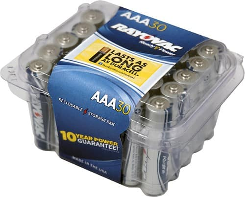 30-Pack Rayovac Batteries (AAA) $7 + Free Shipping