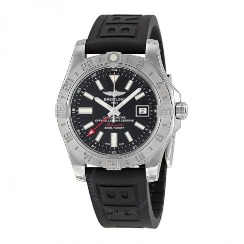 BREITLING Avenger II GMT Black Dial Black Rubber Automatic Men's Watch - $2445