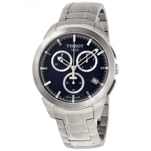 Tissot Titanium Chronograph Men's Watches (Blue or Black Dial) $189.99 & More + Free Shipping