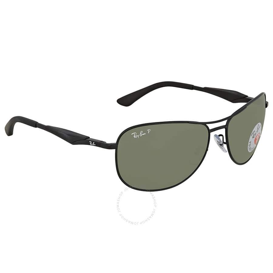 Ray Ban Green Aviator Polarized Sunglasses  - $69.99 Shipped