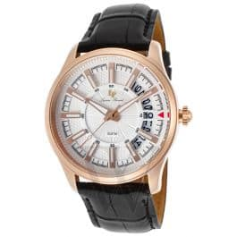 Lucien Piccard Del Campo Rose-Gold Tone Men's Watch w/ Black Genuine Leather Strap - $39.99 Shipped