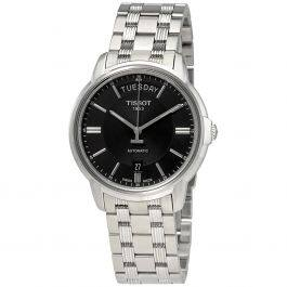 Tissot Men's Automatic III Stainless Steel Black Dial Watch - $216.98